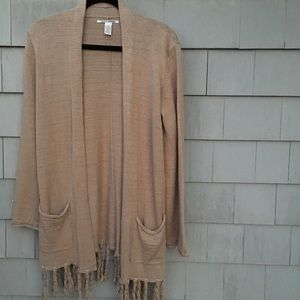 Lucky Brand Long Fringed Sweater